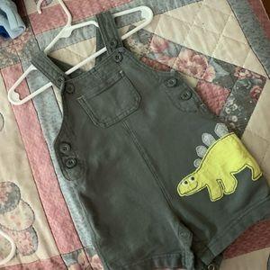 Carters Dinosaur Shortalls Boy 9 mons